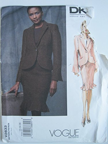 vogue-pattern-2833-american-designer-dkny-misses-misses-petite-jacket-and-skirt-sizes-12-14-16-by-vo