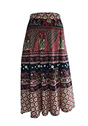 PMS Cotton Multi Color Wrap Around Woman's Skirts(Assorted color & Assorted Design)
