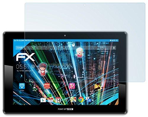 2 x atFoliX Point of View ProTab 3 XXL 10.1 Displayschutzfolie - FX-Clear kristallklar