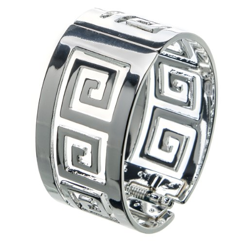 Suvelle Fashion Clasp Hinged Geometric Design Bangle