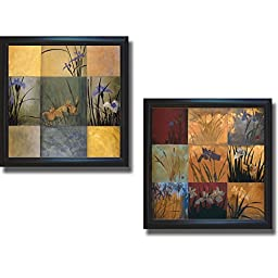 Iris Nine Patch by Don Li-Leger 2-pc Premium Framed & Textured Art Print Set (Ready-to-Hang)