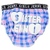 SISTER JENNI(シスタージェニィ) ロゴ&チェック柄ショーツ(FW16)72406 (M(身長115-125cm), ブルーxピンク)