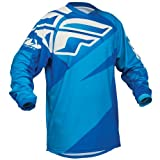 367-921YL - Fly Racing 2014 Youth F-16 Motocross Jersey L Blue/Light Blue