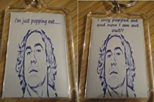 """Micky Flanagan - Key Ring """"Popping Out"""" Drawing Style"""