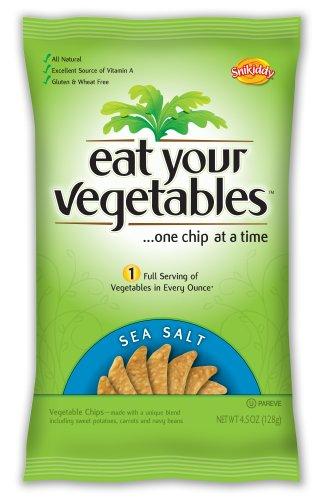Eat Your Vegetables Sea Salt Veggie Chips, 4.5-Ounce (Pack Of 6)