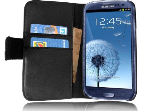 Originale Cadorabo! Premio custodia pelle contro Samsung Galaxy S3 I9300 nero