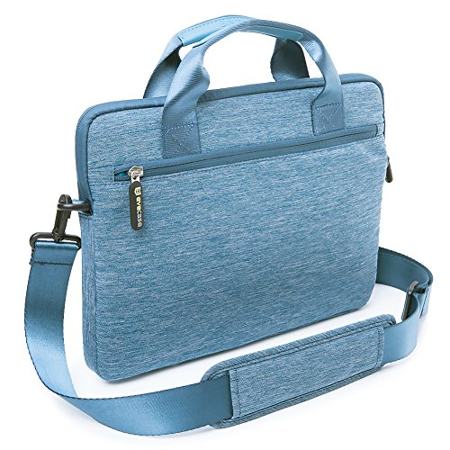 09. Evecase 13'' 13.3-Inch Notebook Chromebook Laptop Ultrabook Suit Fabric Multi-functional Briefcase Messenger Bag Computer Travel