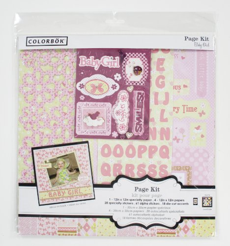 Colorbok 12 By 12-Inch Baby Girl Page Kit front-768483
