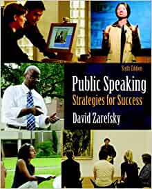 David zarefsky public speaking strategies for success 6th edition