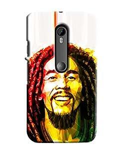 Blue Throat Bob Marley Printed Designer Back Cover/Case For Motorola Moto G3