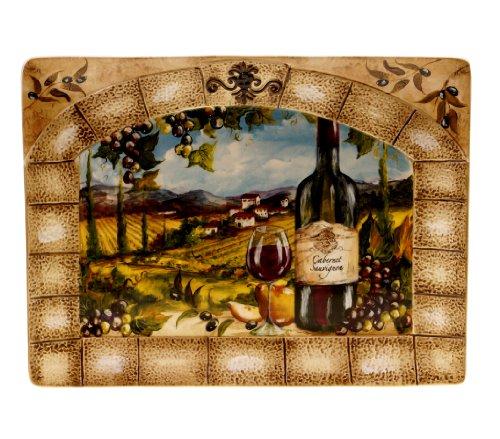 Certified International Tuscan View Rectangular Platter, 16 by 12-Inch