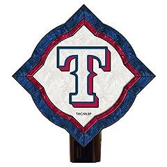Memory Company MC-MLB-TRA-1150 Texas Rangers Vintage Art Glass Nightlight by Memory Company
