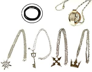 [5 points a great deal] rope chain with hard to be Kingdom Hearts Sora Keyblade Kingdom chain, Sora Crown (Crown), Soraringu, Roxas, to Organization XIII Axel chakra system weapon accessories necklace Kingdom Hearts Kingdom Hearts 2 cosplay prop wound (japan import)