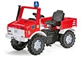 Rolly Toys Fire Brigade Unimog with Gears, Handbrake and Blue Flashing Light