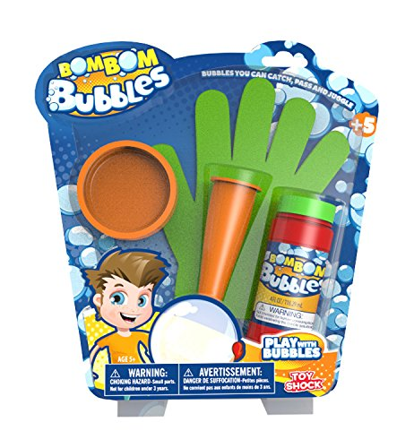 Splash Juguetes 31135 - Original Bom Burbujas burbujas de jabón al tacto, aproximadamente 118 ml con el guante, tubo de respiración y la bandeja de goteo, multicolor