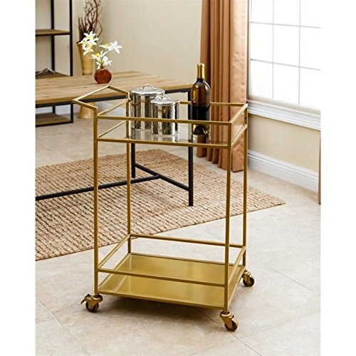 ABBYSON LIVING Marriot Gold Kitchen Bar Cart 0