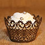 Bronze Filigree Cupcake Wrapper