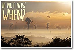 If Not Now When? (smoke stacks) - NEW Classroom Ecology Motivational Poster