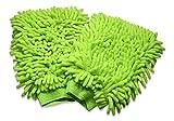 Microfiber Dusting Gloves - 2 Pack Mitt Set - by bogo Brands (Green)
