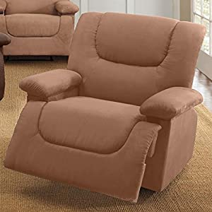 Plus+Size Living Brylanehome Plush Extra Wide Recliner With Storage Arms