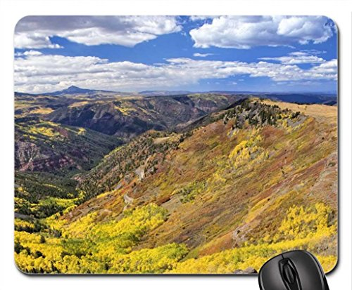 "Valley all ""inizio di autunno Mouse Pad, tappetino per Mouse, montagne Mouse Pad)"