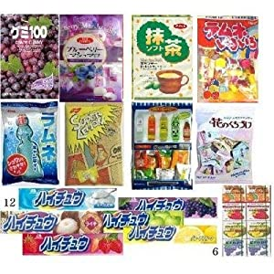 Taste of Japan #1 - Japanese Gummy, Mashmallow, Bubblegum, Hi-chew Taffy and Hard Candies Super Value Party Pack (24 Items , 4 Lb)