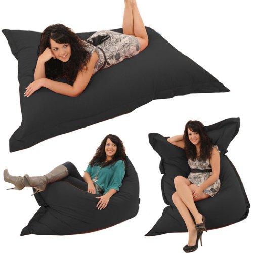 Gilda® Whopper BeanBag BLACK FRESCO - Indoor & Outdoor Bean Bag Whopping 5ft 8