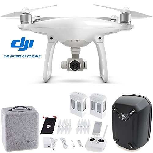 DJI-Phantom-4-Quadcopter-Aircraft-with-Spare-DJI-Phantom-4-Battery-Hardshell-Backpack