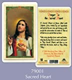 PRAYER VERSE CARD LAMINATED SACRED HEART