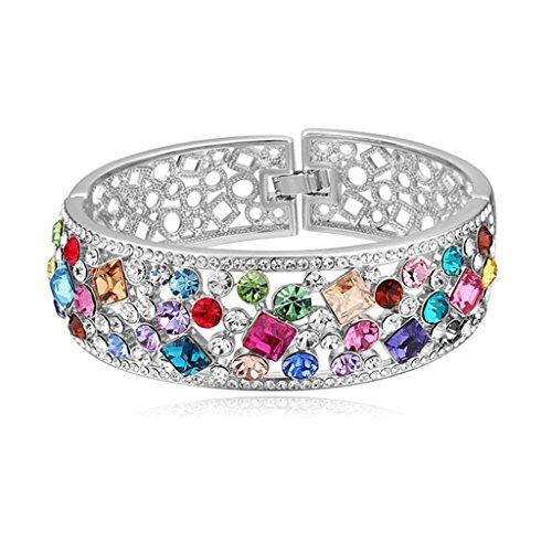 adisaer-plaque-or-blanc-bracelet-charms-femme-multicolor-cristal-zircon-creux-filigree-gourmette