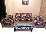 DIGITAL ANTARTIC CHENILLE PURPLE SOFA SLIPCOVER SET WITH 6 ARMS COVER