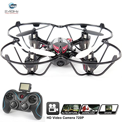 Drone For Sale With Camera H6C Quadcopter RC Helicopter Drones HD 2MP 720p Aerial Photo Video Headless Mode 360 Stunt 6 Axis Gyroscope 24Ghz Radio