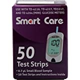 SMART CARE BLOOD GLUCOMETER TEST STRIPS (HOSPITAL PACK) 50'S