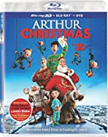 Arthur Christmas (Three Discs: Blu-ray 3D / Blu-ray / DVD + UltraViolet Digital Copy) from Sony Pictures Home Entertainment