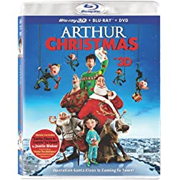 Arthur Christmas (Three Discs: Blu-ray 3D / Blu-ray / DVD + UltraViolet Digital Copy)