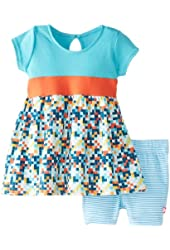 Zutano Baby Girls' Digital Banded Waist Dress and Bike Short Set