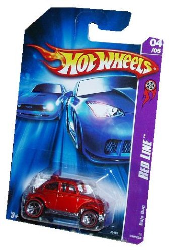 Hot Wheels 2006 Red Baja Bug Red Line 1:64 Scale Collectible Die Cast Car Model #099
