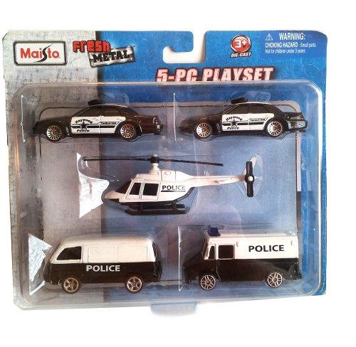 Maisto Police 5 Piece Die Cast Playset - 1