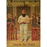 L1224 LARGE COLMAN'S MUSTARD METAL ADVERTISING WALL SIGN RETRO ART