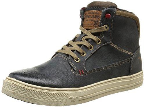 Mustang - High Top Sneaker, Alte Scarpe Da Ginnastica da uomo, Blau (847 blau-grün), 43