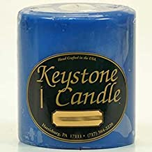 4 X 4 Blue Christmas Pillar Candles By US Candle