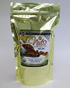 Nuts, Raw, Soaked & Dried, Certified Organic, Pecans 1 lb.