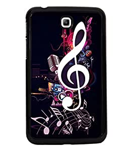 printtech Music Notes Back Case Cover for Samsung Galaxy Tab 3 7.0 :: Samsung Galaxy Tab 3 T211 P3200