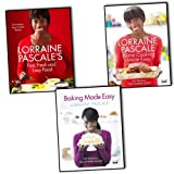 Lorraine Pascale's collection 3 cook book set. (Fast, Fresh and Easy Food, Home Cooking Made Easy, Baking Made Easy)by Lorraine Pascale