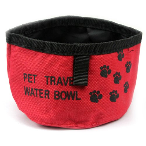 Dgi Mart Pet Gear Practical Simple Style Foldable Portable Pet Travel Water Bowl Ideal For Outdoor Travel Use(Send By Random Colour) front-614824