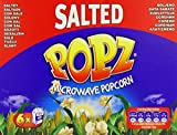 Popz Microwave Popcorn salted 100g (Pack of 6)