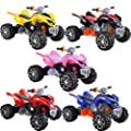 Rocket Raptor Extreme Kids Electric Ride on Quad Bike - 12v - 5 Colours (UNIQUE MODEL WITH CHROME WHEEL TRIMS, MP3 PLUG IN & HORN)