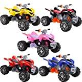 Rocket Raptor Extreme Kids Electric Ride on Quad Bike - 12v - Pink (UNIQUE