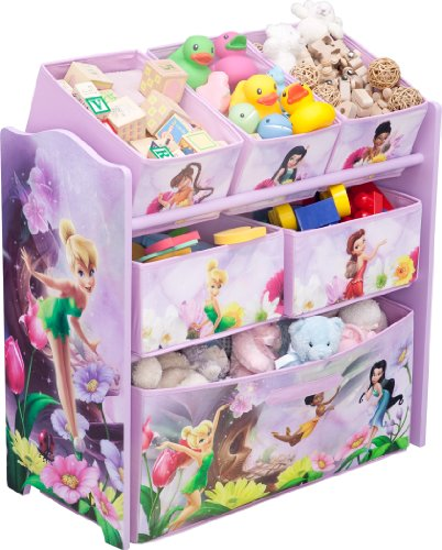 Great Features Of Disney Fairies Multi-Bin Toy Organizer