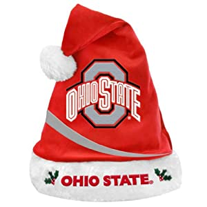 NCAA Swoop Logo Santa Hat NCAA Team: Ohio State University Buckeyes by Forever Collectibles